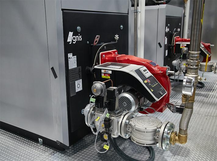 El proyecto se ha concretado en la instalación de tres calderas Ygnis, modelo LR25, de 800 kW cada una