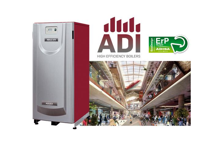 Las unidades elegidas para este proyecto han sido 2 calderas ADI LT 650