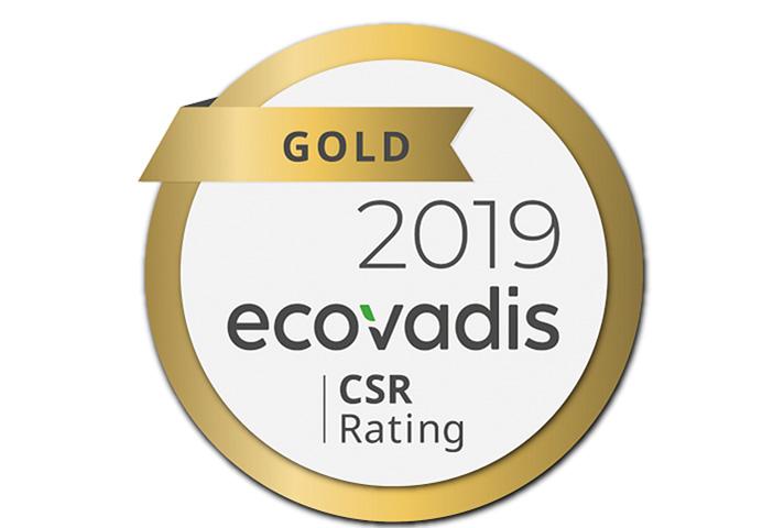 El grupo ha obtenido el sello de oro de la reconocida plataforma de evaluación de sostenibilidad 'EcoVadis'
