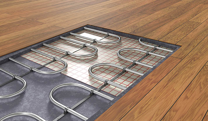 Este tipo de sistemas de suelo radiante trabajan a baja temperatura