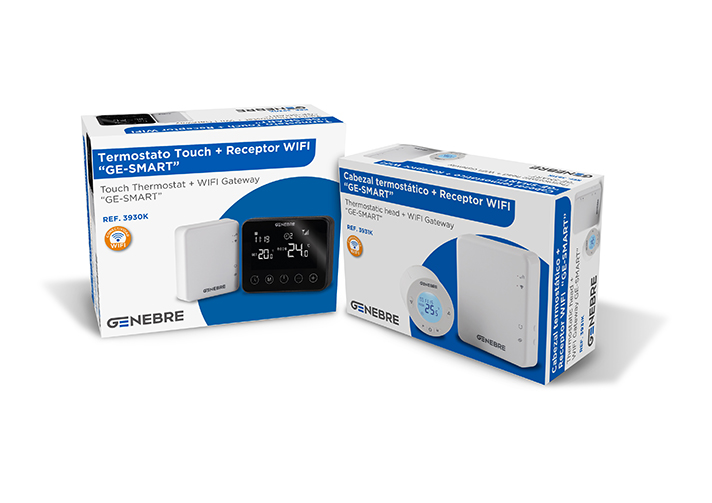 Los nuevos Kits contienen Termostatos Touch y Cabezales Termostáticos con conectividad Wi-Fi