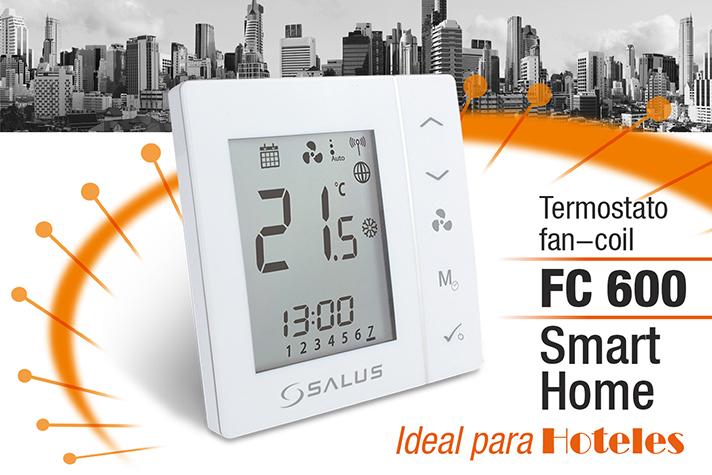 La instalación de los termostatos Salus FC 600 es tan sencilla como la de un termostato sin comunicación