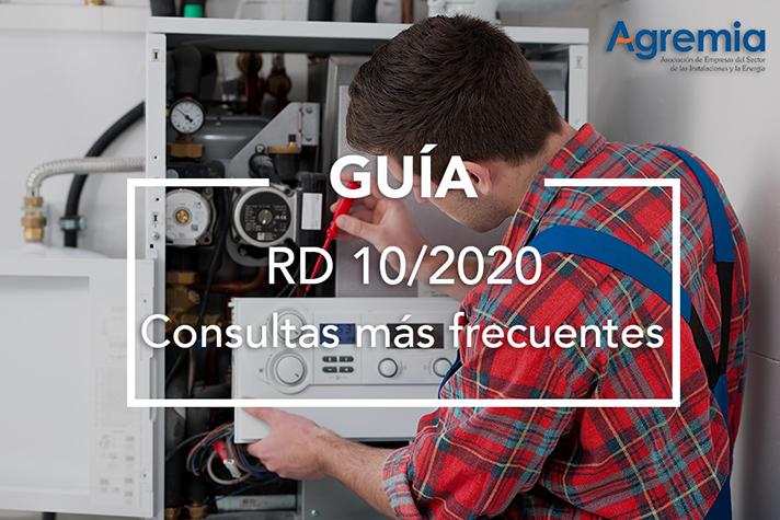 Las actividades de mantenimiento y de reparaciones de averías urgentes son consideras esenciales en el RD-Ley 10/2020