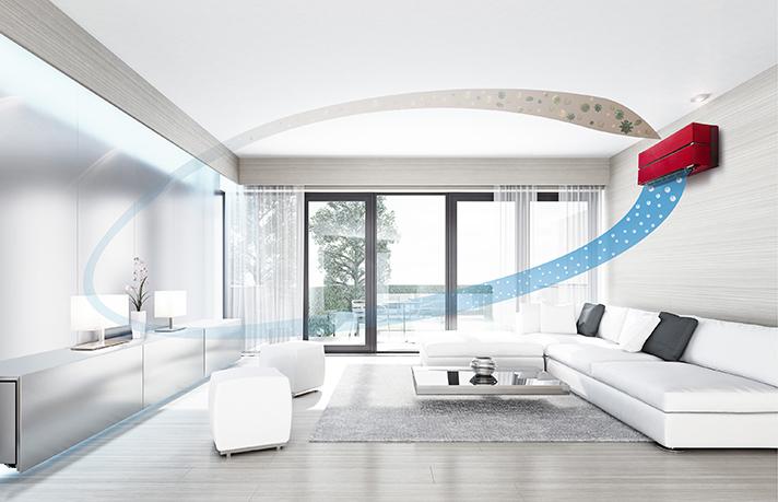 El filtro Plasma Quad Plus es un filtro altamente efectivo incorporado en la serie MSZ-LN Kirigamine Style