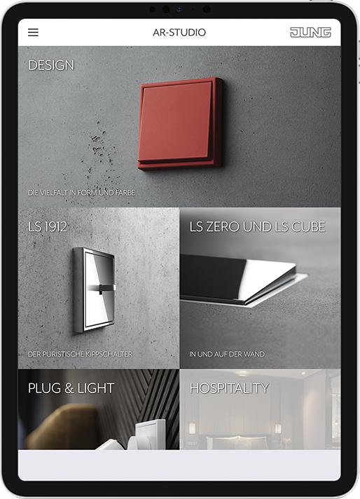Nueva app de realidad aumentada Jung AR-Studio