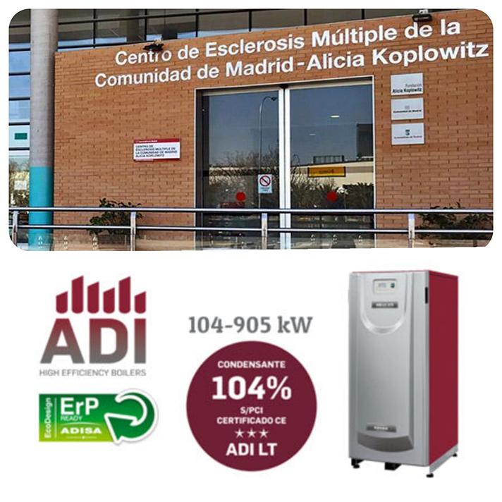 El Centro de Esclerosis Múltiple de Madrid ha elegido las calderas ADI LT de Adisa Heating