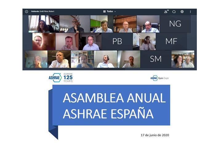 La Asamblea Anual del ASHRAE Spain Chapter se celebró el pasado 18 de junio