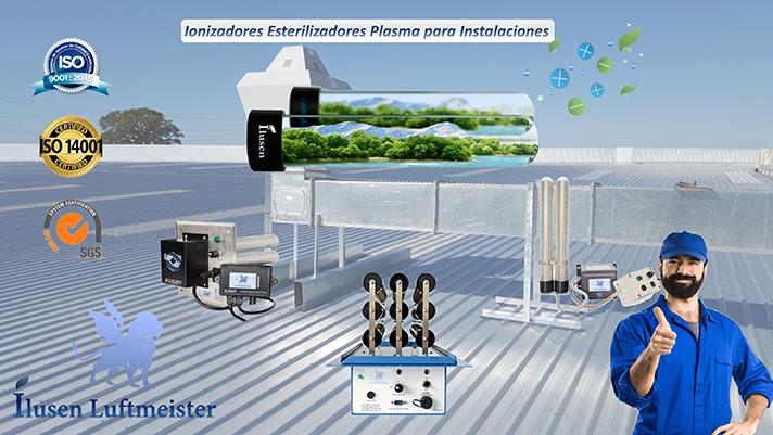 Sistemas de ionización por plasma para la purificación del aire de uso profesional para instaladores