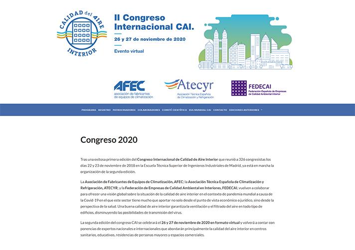 Los días 26 y 27 de noviembre tendrá lugar el II Congreso Internacional de Calidad de Aire Interior