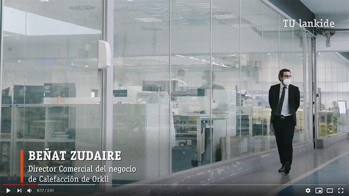 Beñat Zudaire, director de negocio de Calefacción de Orkli, en las instalaciones de la compañía