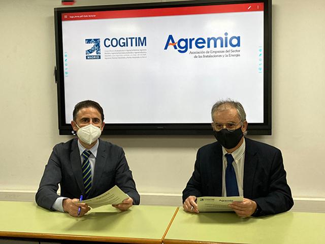 Izquierda, José Antonio Galdón Ruiz, decano del COGITIM, junto a Emiliano Bernardo Muñoz, presidente de Agremia