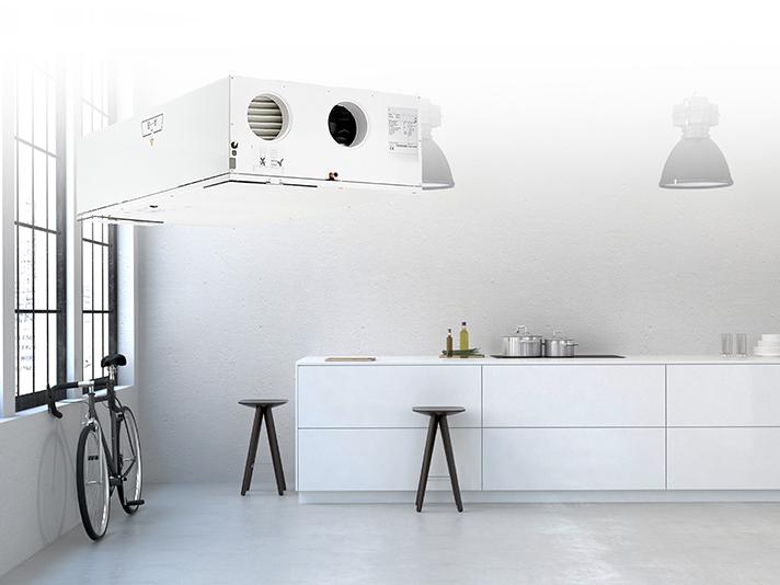 Estos sistemas suministran aire fresco y limpio al hogar, además de extraer el aire viciado y la humedad no deseada que generan la cocina y el baño
