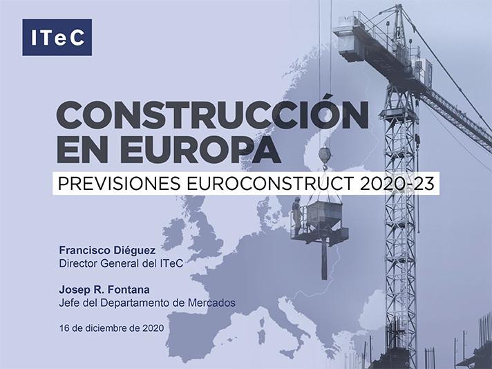 El estudio de Euroconstruct describe la evolución de la construcción en Europa en el período 2020-23