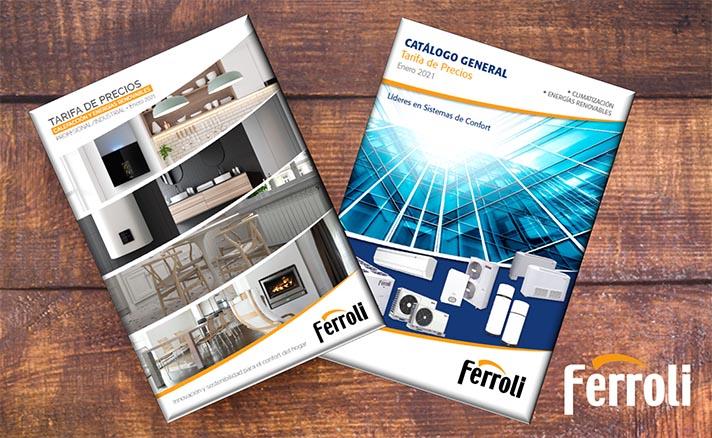 Todas las novedades se podrán visualizar en la página web de Ferroli