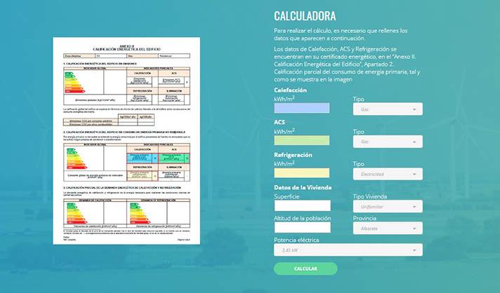 La Calculadora Energética, nueva herramienta que permite conocer los gastos en costes y consumos
