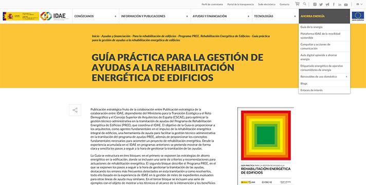 La Guía proporcionará a los arquitectos una herramienta para facilitar la gestión de las ayudas del PREE