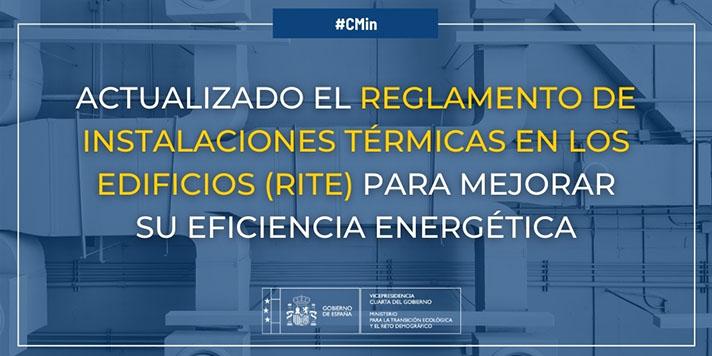 La actualización del RITE contribuirá a alcanzar el objetivo de mejora de la eficiencia energética a través de la reducción del consumo de energía primaria en un 39,5% en 2030