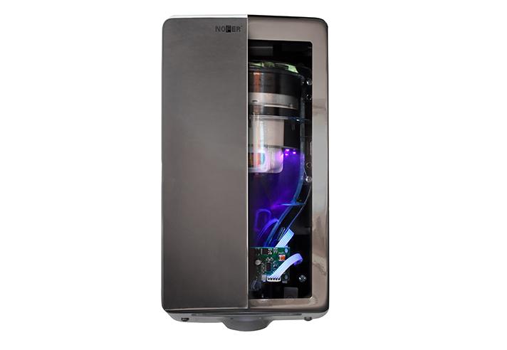 Con luz LED UVC incorporada y filtro HEPA, elimina el 99.97% de las partículas contaminantes en suspensión