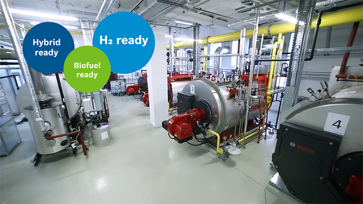 Calderas de hidrógeno, calderas híbridas y calderas eléctricas. Bosch Termotecnia ofrece diferentes alternativas ecológicas a los combustibles fósiles
