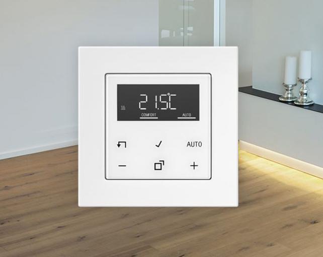 El nuevo controlador de temperatura para LB Management de Jung tiene un diseño elegante y homogéneo