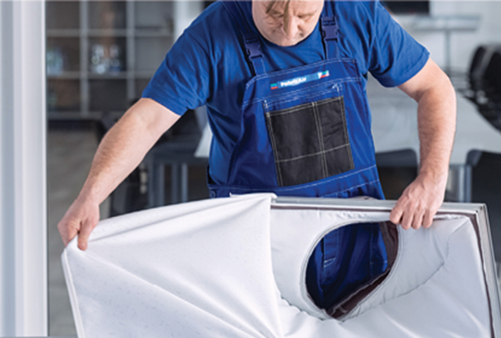 Los difusores de techo textiles FabricAir son una forma diferente de diseñar la arquitectura del edificio