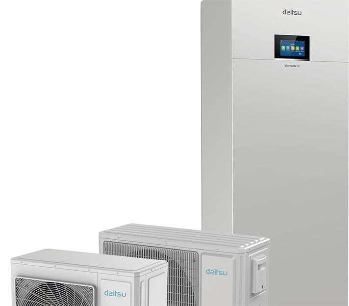 Solución de bomba de calor con diseño integrado para agua caliente sanitaria, calefacción y climatización