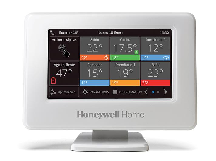 El controlador evohome con pantalla táctil en color de alta calidad puede operar sobre doce zonas de control