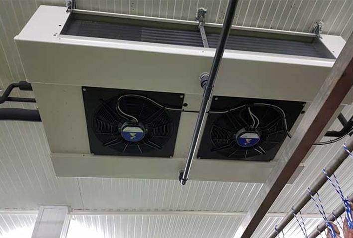 Evaporador nuevo de Ziehl-Abegg instalado en el proyecto