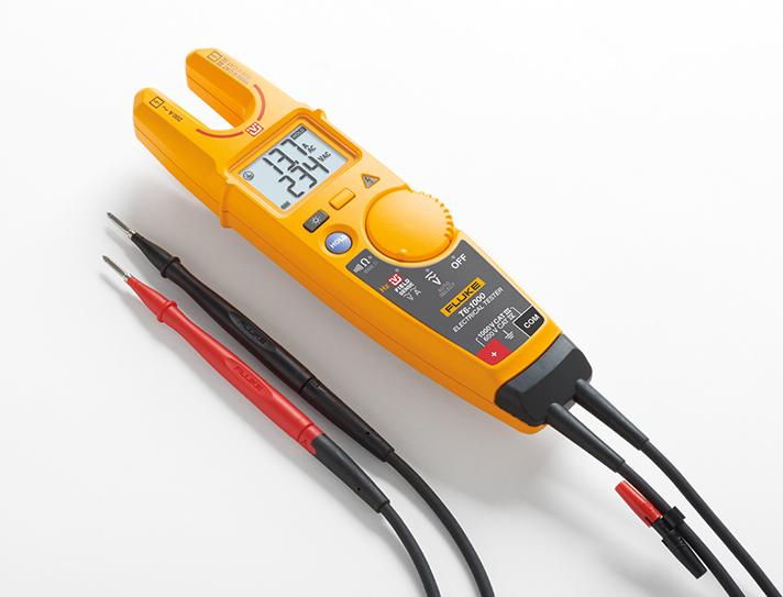 Los comprobadores permiten que los electricistas puedan detectar la tensión y la corriente, sin cables de prueba
