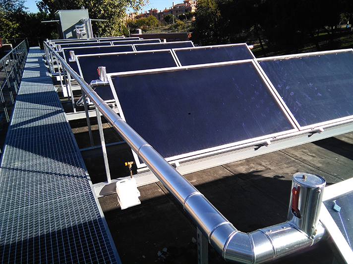 Se han instalado 26 Captadores Solares ADISOL HN 2.6
