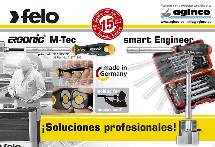 Los destornilladores de vaso Felo M-Tec están diseñados para trabajar en las zonas de difícil acceso