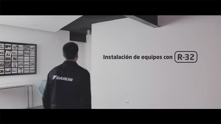 Vídeo tutorial de Daikin para la instalación de equipos con R-32