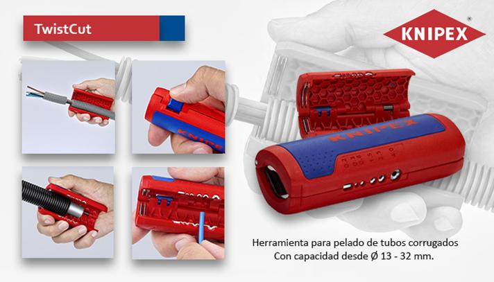 La herramienta está fabricada con plástico reforzado de fibra de vidrio