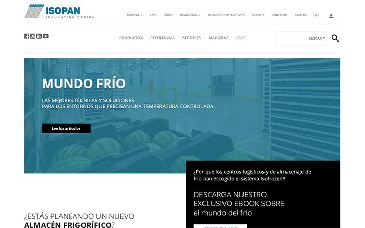 La nueva web se encuentra disponible en www.isopan.es/mundo-frio