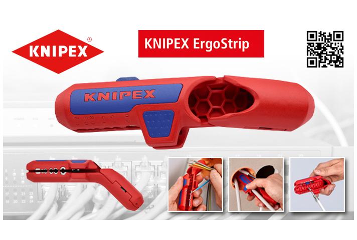 Knipex ErgoStrip es una novedad mundial en el campo de las herramientas para cables