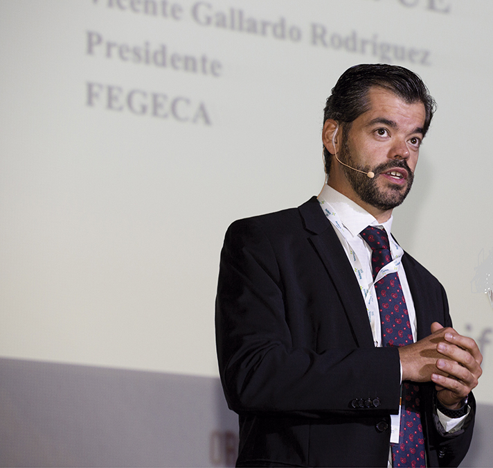 Vicente Gallardo, presidente de Fegeca